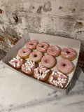 Donuts blue and pink_