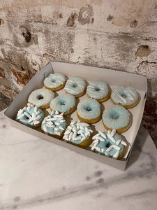 Donuts blue and pink